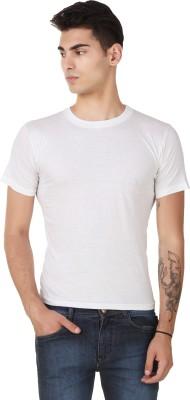 Casabella Solid Men's Round Neck White T-Shirt