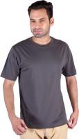 Humbert Solid Men's Round Neck Grey T-Shirt