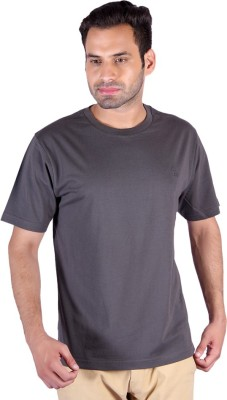 Humbert Solid Men's Round Neck Grey T-Shirt