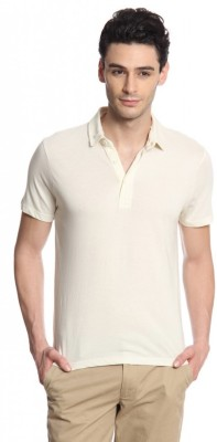 Cottonworld Solid Men's Polo T-Shirt