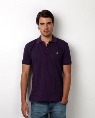 Bombay High Solid Men,s Polo Purple T-Shirt