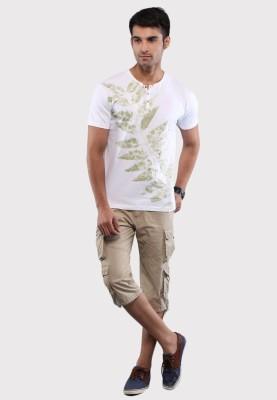 Sandeep Mahajan Printed Men's Round Neck White T-Shirt