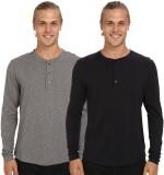 Nicewear Solid Men's Henley Grey, Black ...