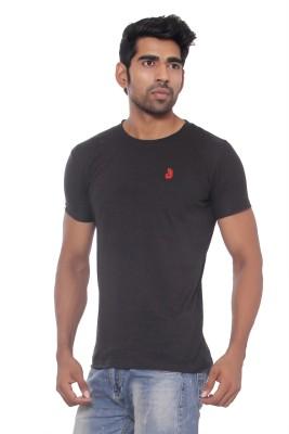 Pezzava Self Design Men's Round Neck Reversible Black, Red T-Shirt