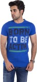 Lime Time Printed Men's Round Neck Blue ...