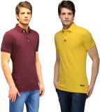 Tailor Craft Solid Men's Polo Neck Maroo...
