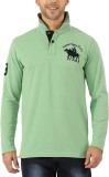 DXI Solid Men's Polo Neck Light Green T-...