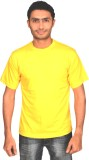 Subu Solid Men's Round Neck Yellow T-Shi...