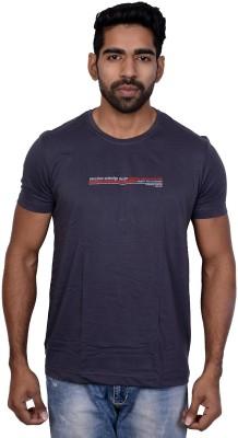 Being Dessi Solid Men's Round Neck Grey T-Shirt
