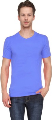 Ants Solid Men's Round Neck Blue T-Shirt