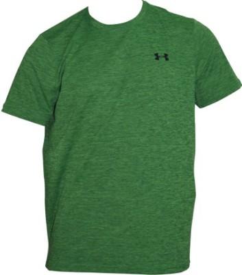 Under Armour Solid Men's Round Neck Green T-Shirt