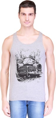 Clst Solid Men's Round Neck Grey T-Shirt