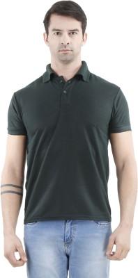 Tej Star Solid Men's Polo Neck Green T-Shirt