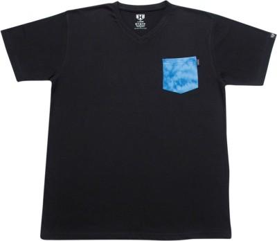 Haul Graphic Print Men's V-neck Black T-Shirt