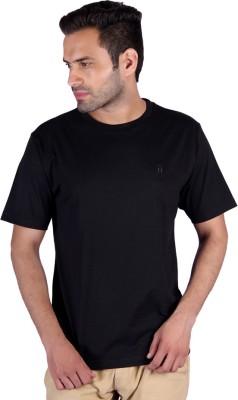 Humbert Solid Men's Round Neck Black T-Shirt