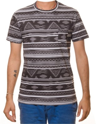 Shootr Printed Men's Round Neck Black T-Shirt