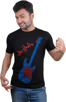 Tymstyle Printed Men,s Round Neck Black, Blue, Red T-Shirt