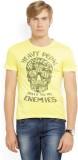 Ed Hardy Printed Men's Round Neck Yellow...