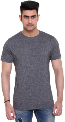 Colors and Blends Solid Men,s Polo Neck Black T-Shirt