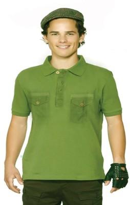 Do U Speak Green Solid Men's Polo T-Shirt