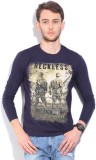 Integriti Printed Men's Round Neck Blue ...