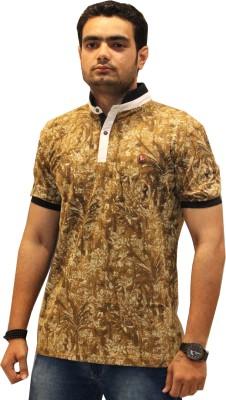 GOPAL EMPORIUM Solid Men's Polo Brown T-Shirt