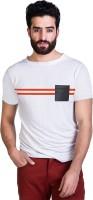 T Shirts (Men's) - Mr Button Solid Men's Round Neck White T-Shirt