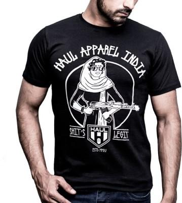 Haul Graphic Print Men,s, Women's Round Neck Black T-Shirt
