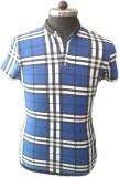 TOC Self Design Men's Round Neck Blue T-...