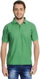 FLAH Solid Men's Polo Neck Green T-Shirt