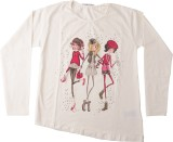 Lulu Solid Girl's Round Neck T-Shirt