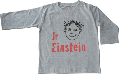 Acute Angle Printed Boy,s Round Neck Grey T-Shirt