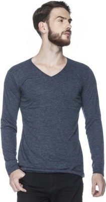 Mahira Fashions Solid Men's V-neck Grey T-Shirt
