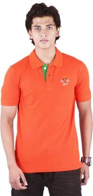 Bib & Tucker Solid Men's Polo Neck Orange T-Shirt