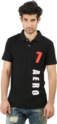 Hotfits Printed Men's Polo Black T-Shirt