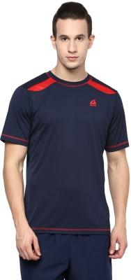 Aurro Solid Men's Round Neck Dark Blue T-Shirt