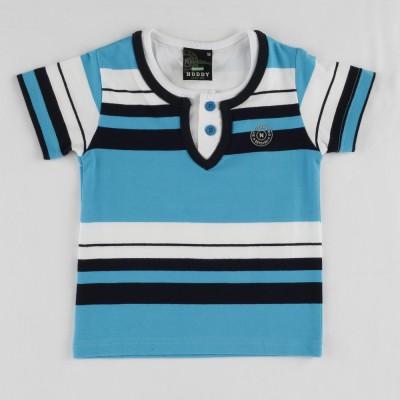 Noddy Striped Boy's Round Neck T-Shirt