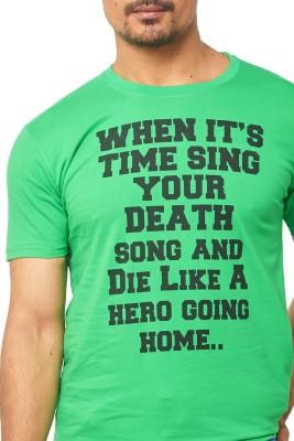 Thor Printed Men's Round Neck Yellow T-Shirt
