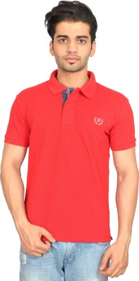 Urban Trail Solid Men's Polo Neck Red T-Shirt