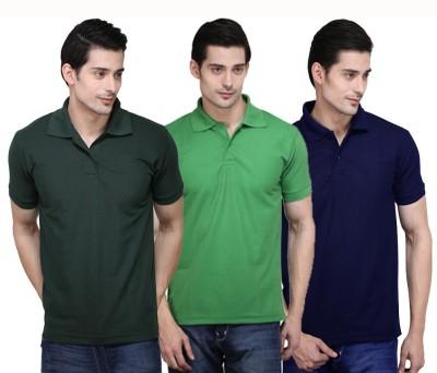 NE Solid Men's Polo Neck T-Shirt