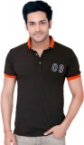 Goplay Solid Men's Polo Neck Black T-Shi...