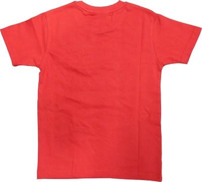 MOTU PATLU Solid Boy's Round Neck Red T-Shirt