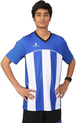 Triumph Printed Men's V-neck Blue T-Shirt