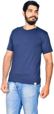 Indian Royals Solid Men's Round Neck Dark Blue T-Shirt