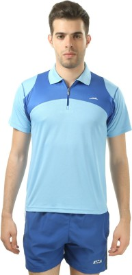 Stag Printed Men's Polo Neck Blue, Blue T-Shirt