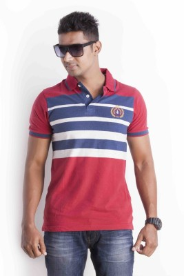 Sting Striped Men's Polo Red, Blue, White T-Shirt