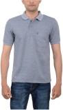 Japroz Solid Men's Polo Neck Grey T-Shir...