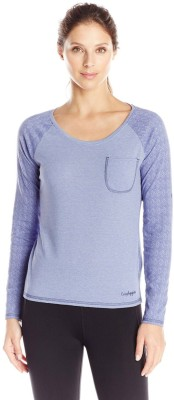 Craghoppers Solid Women's Round Neck Blue T-Shirt