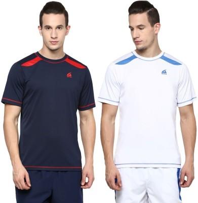 Aurro Solid Men's Round Neck Multicolor T-Shirt