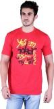 Metaloak Printed Men's Round Neck Red T-...